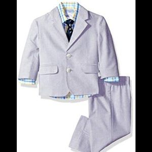 Toddler 2t 4pc Nautica Light gray Suit